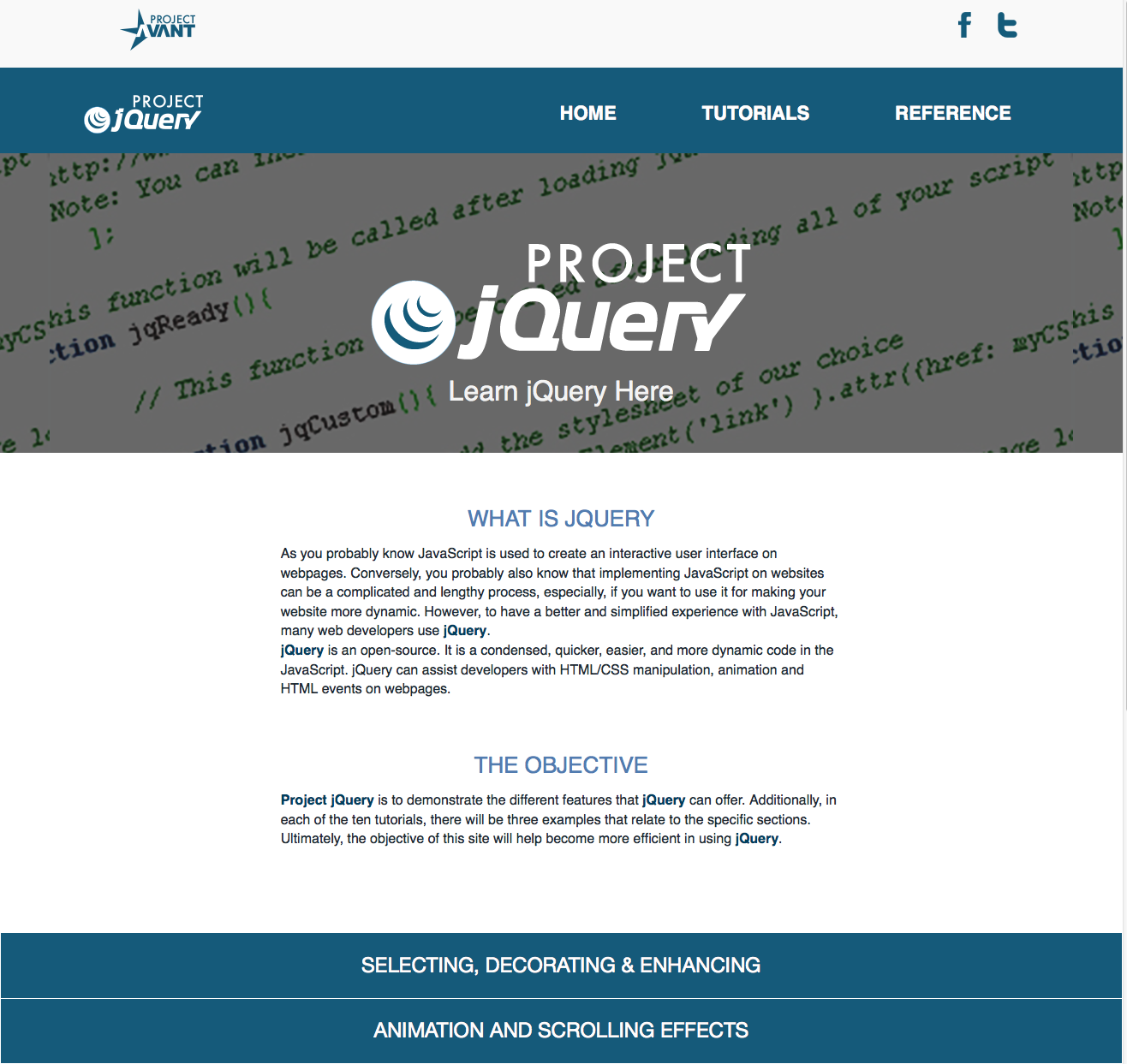 Project jQuery